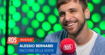 Alessio Bernabei ospite di RDS risponde alle domande della nostra macchina della verità