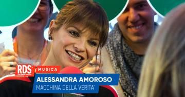 Alessandra Amoroso a RDS risponde alle domande della nostra macchina della verità