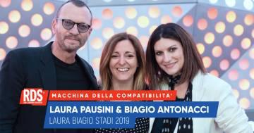 Laura Pausini e Biagio Antonacci a confronto nella Macchina della Compatibilità di RDS