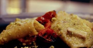 Paccheri con tonno e chitarra all'amatriciana di scampi - Kitchen Duel - Alessandro Borghese Kitchen Sound