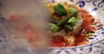 Tartare di ricciola con sorbetto - Kitchen Duel - Alessandro Borghese Kitchen Sound