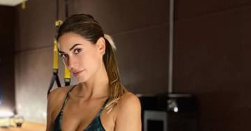 Melissa Satta: il video del suo allenamento in palestra è bollente