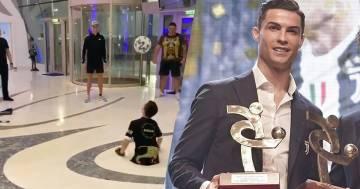Cristiano Ronaldo realizza il sogno di un bambino nato senza gambe: ecco il video