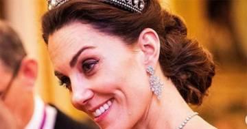 Kate Middleton con la tiara di Lady Diana: tutte le foto da Buckingham Palace
