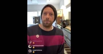 """""""Together, at home"""": la diretta di Chris Martin per convincere gli americani a stare in casa"""