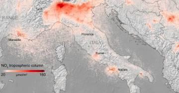 L'inquinamento continua a diminuire in tutta Europa: le nuove immagini dal satellite