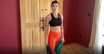 L'allenamento di Elisabetta Canalis su Instagram: ecco la nuova lezione di pilates