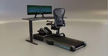 Per allenarsi durante lo smartworking arriva il tapis-roulant con scrivania