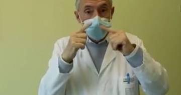 Il tutorial per indossare la mascherina ed evitare il rischio di congiuntiviti