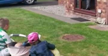 La visita ai nonni dopo due mesi di lockdown: il video è commovente