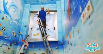 I reparti degli ospedali diventano opere d'arte