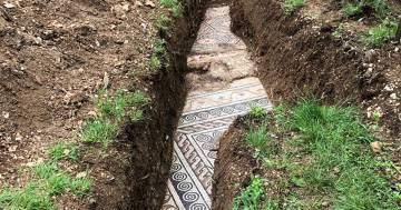Sotto i vigneti in Valpolicella scoperto mosaico di un'antica villa romana