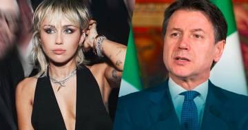 Scambio di Tweet tra Miley Cyrus e il premier Conte: ecco cosa si sono detti