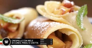Crespelle con mele di Cuneo, pinoli e uvetta - Alessandro Borghese Kitchen Sound - Rural Glam