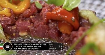 Battuta di fassona con carciofi, senape e peperoni - Alessandro Borghese Kitchen Sound - Rural Glam