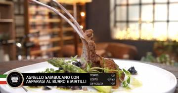 Agnello sambucato con asparagi al burro e mirtilli - Alessandro Borghese Kitchen Sound - Rural Glam