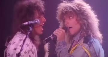 Bon Jovi: compie 34 anni la hit 'You Give Love a Bad Name'