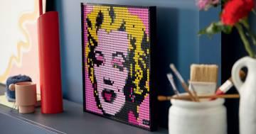 Con Lego Art le icone del cinema e della musica diventano dei quadri