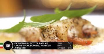 Pacchero con ricotta, basilico, limone e pomodoro del piennello arrostito - Alessandro Borghese Kitchen Sound - Teen