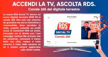 RDS Social TV: accendi la TV, ascolta RDS!
