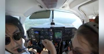 Atterraggio da brividi a causa di un guasto durante il volo