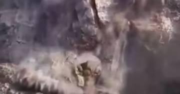 Le spaventose immagini della frana sull'isola di Ventotene: il video