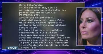 Grande Fratello Vip: Elisabetta Gregoraci si commuove per la lettera di Flavio Briatore