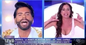 """Nuovo scontro in diretta tra Federico Fashion Style e Antonella Mosetti: """"Tu sei un ladro!"""""""