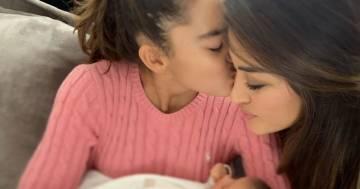 """Giorgia Palmas e la foto insieme alle due figlie: """"Chiedetemi se sono felice"""""""