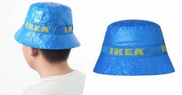 Ikea ha lanciato il cappello realizzato con il materiale delle sue borse