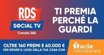 RDS Social TV ti premia perché la guardi: sintonizzati e vinci!