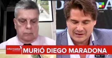 Maradona: il conduttore argentino scoppia in lacrime mentre dà la notizia della sua morte