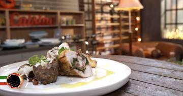 Coniglio grigio di carmagnola in porchetta con topinambur al sale e funghi - Alessandro Borghese Kitchen Sound - Rural Glam