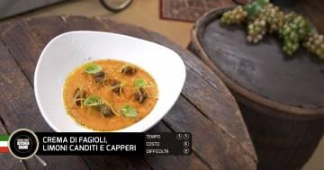 Crema di fagioli, limoni canditi e capperi - Alessandro Borghese Kitchen Sound - Rural Glam
