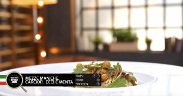 MEZZE MANICHE, CARCIOFI, CECI E MENTA - Alessandro Borghese Kitchen Sound - Green
