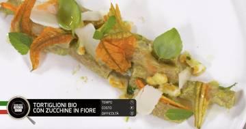 Tortiglioni bio con zucchine in fiore - Alessandro Borghese Kitchen Sound - Green