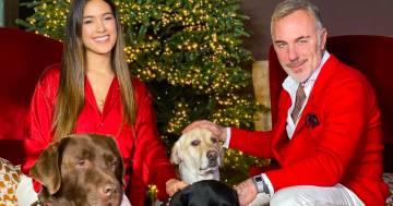 Il primo Natale da genitori di Gianluca Vacchi e Sharon Fonseca: la foto d'auguri su Instagram
