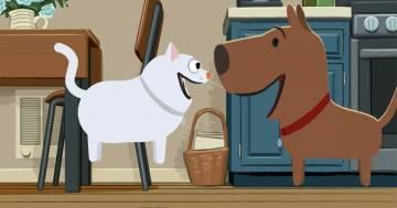 L'amicizia impossibile tra un cane e un gatto nel bellissimo corto di Steve Cowden