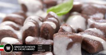 Gnocchi di patate al cacao amaro - Alessandro Borghese Kitchen Sound - Cioccolato inaspettato