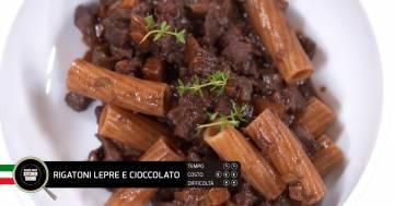 Rigatoni lepre e cioccolato - Alessandro Borghese Kitchen Sound - Cioccolato inaspettato