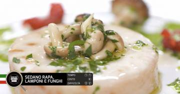 Sedano rapa, lamponi e funghi - Alessandro Borghese Kitchen Sound - Green