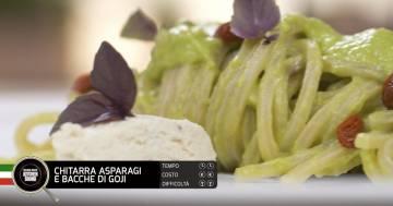 Chitarra, asparagi e bacche di Goji - Alessandro Borghese Kitchen Sound - Green
