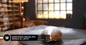 Maritozzo con gelato bianco al caffè - Alessandro Borghese Kitchen Sound - I profumi del forno