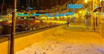 Ponza: la magica isola è ricoperta dalla neve