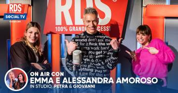 Emma e Alessandra Amoroso cantano 'Pezzo di cuore' con I Peggio più Peggio di RDS sulla RDS Social TV