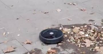 Barcellona, un robot aspira polvere 'scappa' in strada: il video