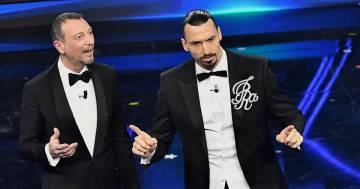 Il festival di Sanremo secondo Ibrahimović: la gag con Amadeus è esilarante