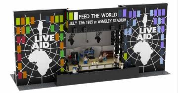 Il palco dei Queen al Live Aid costruito con i Lego è fantastico!