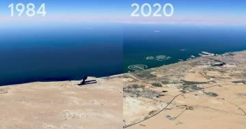 Su Google Earth è possibile vedere come è cambiato il mondo negli ultimi 40 anni