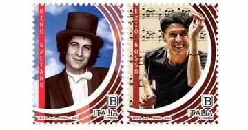 Emessi due francobolli per celebrare Rino Gaetano e Ezio Bosso